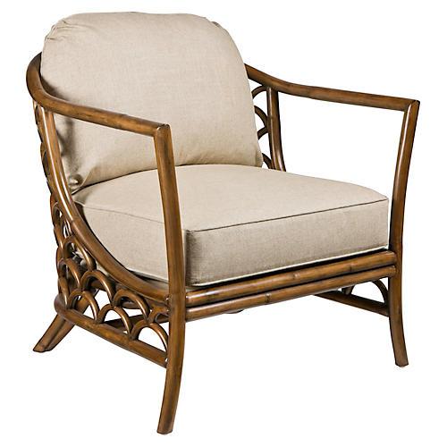 Koi Lounge Chair, Walnut