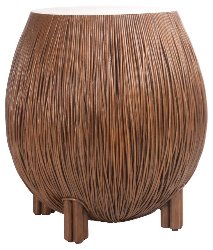 Oasis Side Table, Mahogany
