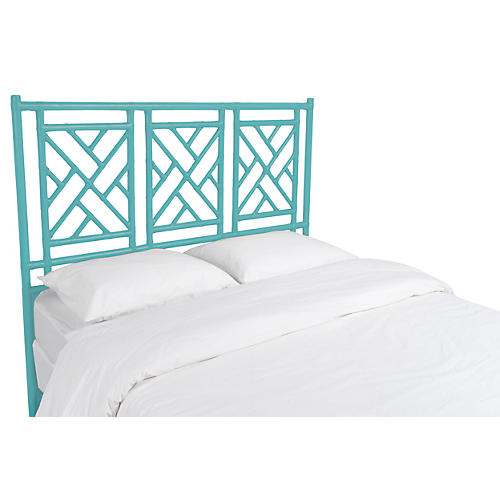 Chippendale Headboard, Turquoise