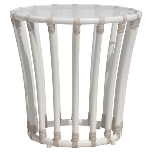 Laguna Outdoor Side Table, White