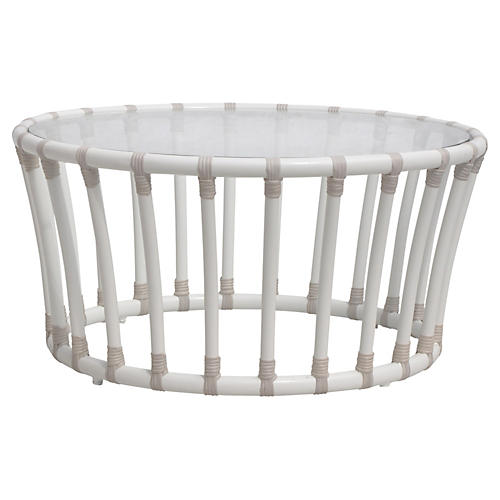 Laguna Outdoor Coffee Table, White