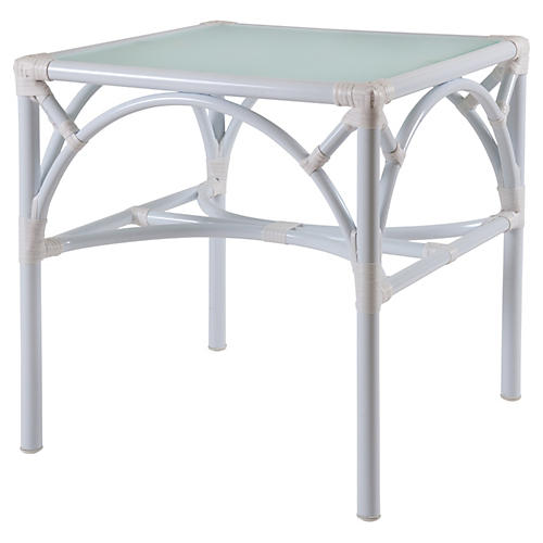 Chippendale Outdoor Side Table, White