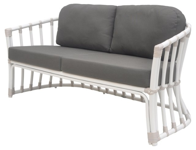 Laguna Outdoor Loveseat, Charcoal