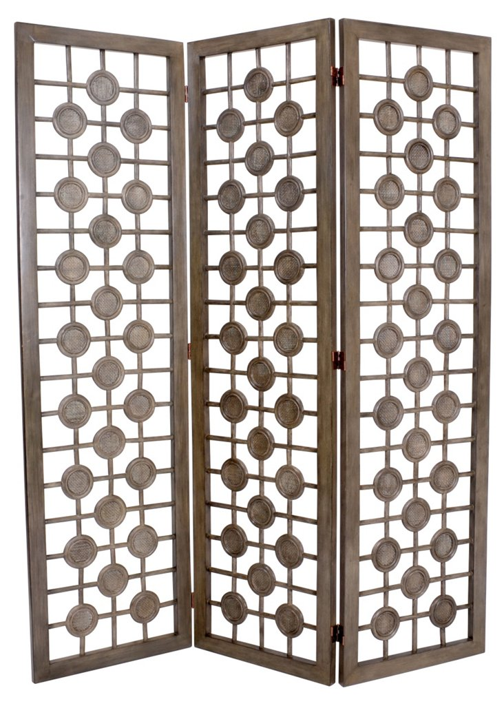 Carlton Rattan Room Screen, Graphite