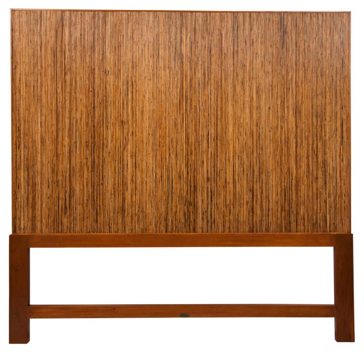 Toffee Polynesian Headboard, Queen