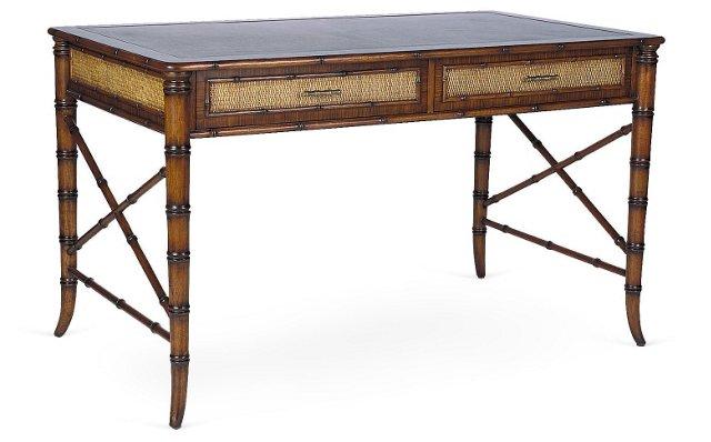 Sammana Leather-Top Writing Desk