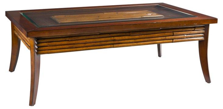 """Bamboo 54"""" Coffee Table, Golden Mahogany"""