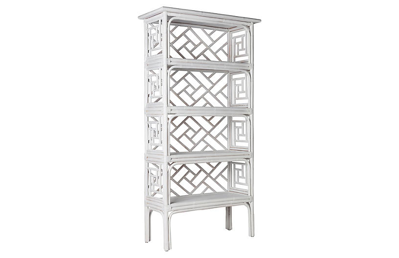 Chinese Chippendale Étagère, White