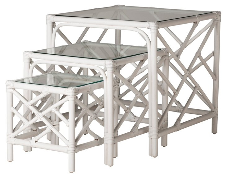 Chippendale Nesting Tables, Set of 3