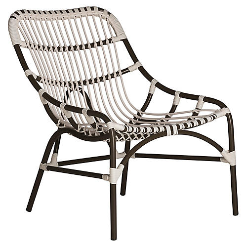 Coronado Outdoor Lounge Chair, White