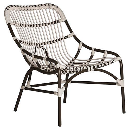 Coronado Outdoor Lounge Chair, Black
