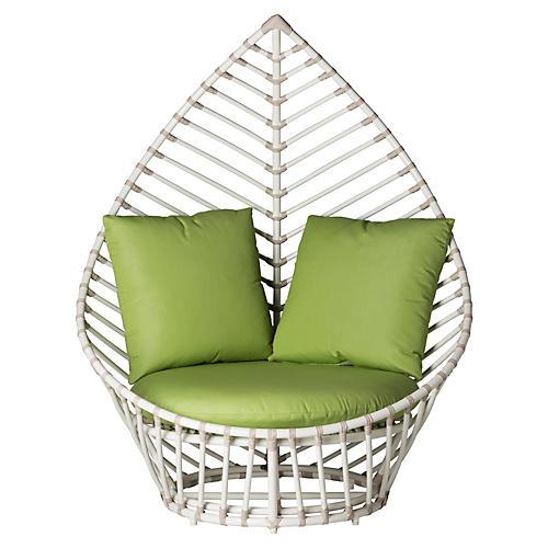 Palm Lounge Chair, Green Sunbrella
