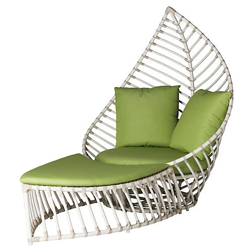 Palm Outdoor Chair/Ottoman Set