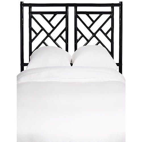 Chippendale Two-Panel Headboard, Black