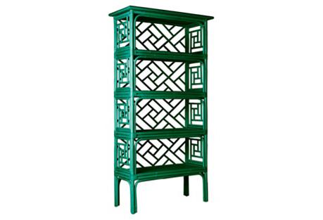 Chinese Chippendale Étagère, Emerald