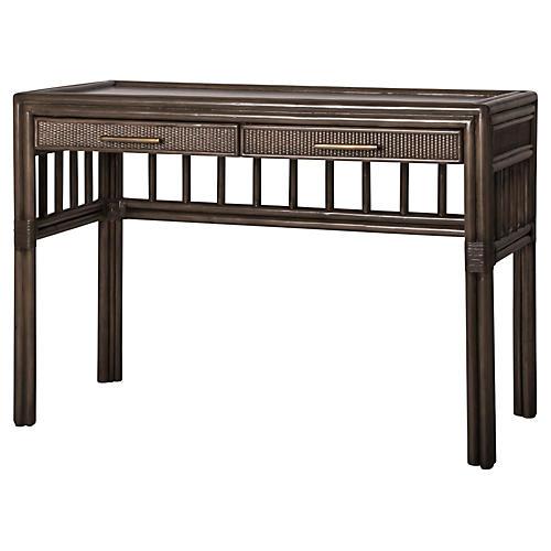 Colony Rattan Desk, Brown