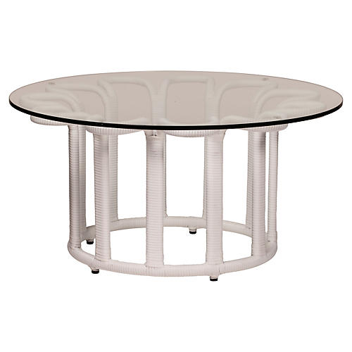 Calla Outdoor Coffee Table, White