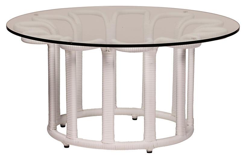 David Francis Furniture Calla Outdoor Coffee Table White One Kings Lane