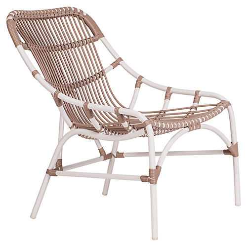 Coronado Outdoor Lounge Chair, Cocoa