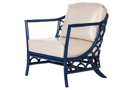 Koi Lounge Chair, Indigo