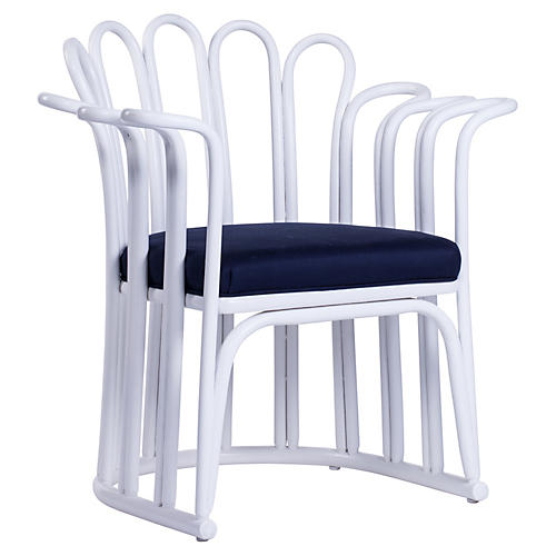 Calla Occasional Chair, White/Navy