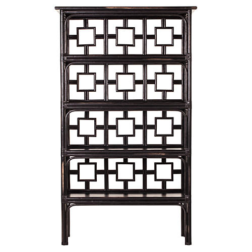 Sobe Étagère, Distressed Black