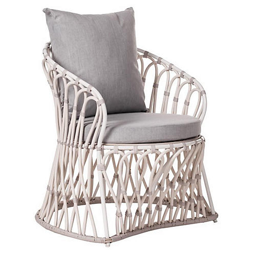 Amalfi Outdoor Lounge Chair, Granite