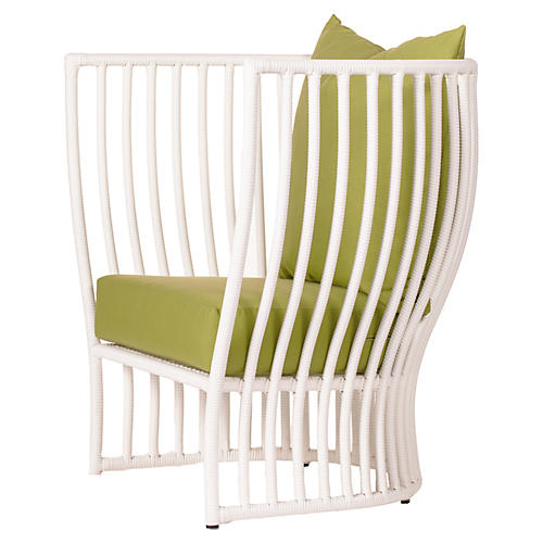 Napa Outdoor Lounge Chair, Moss Sunbrella