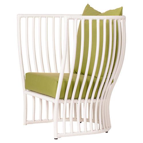 Napa Outdoor Lounge Chair, Moss Sunbrella