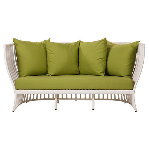 Napa Outdoor Loveseat, Ginko Sunbrella