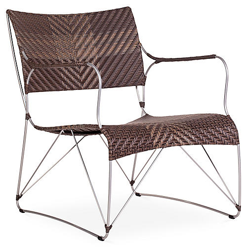 Seto Outdoor Club Chair, Cappuccino