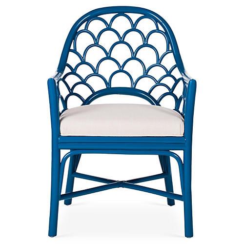 Koi Armchair, Pacific Blue