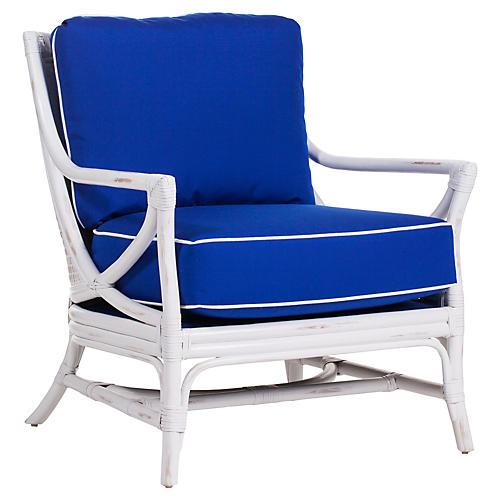 Island Breeze Club Chair, Cobalt Blue Sunbrella