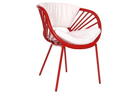 Aura Chair, Fire Red
