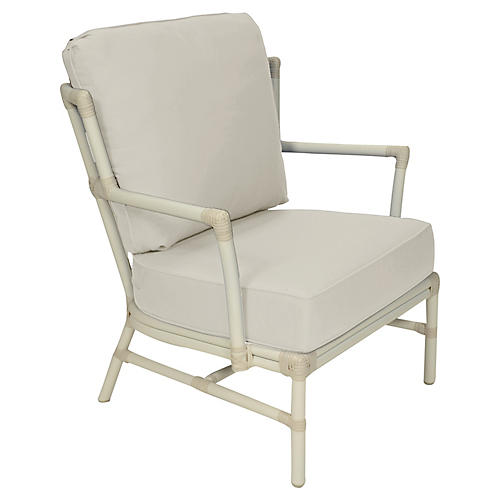 Nantucket Outdoor Lounge Chair, Vellum Sunbrella