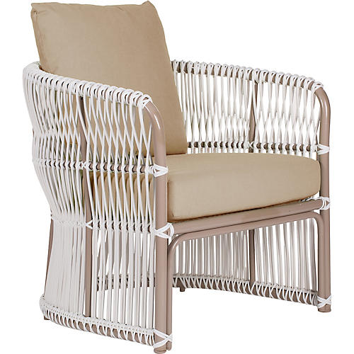 Fiji Outdoor Lounge Chair, Beige
