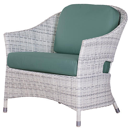 Newport Outdoor Lounge Chair, Teal Sunbrella