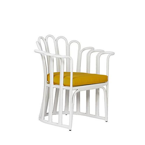 Calla Outdoor Accent Chair, Sunflower