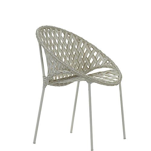 Tik-Tak Stacking Chair, Whitewash