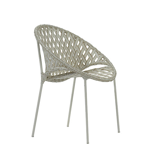 Tik-Tak Stacking Chair, Whitewash