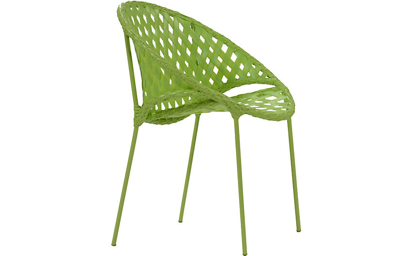 Tik-Tak Stacking Chair, Lime
