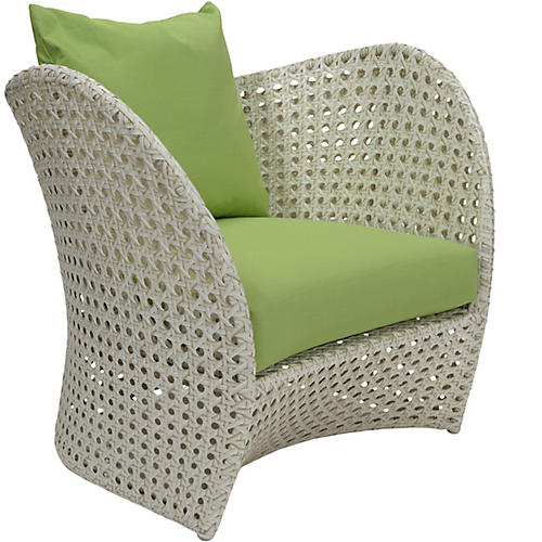 Beach Sunbrella Lounge Chair, Green