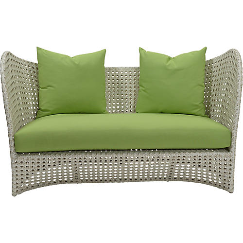 "Beach 60"" Sunbrella Loveseat, Green"