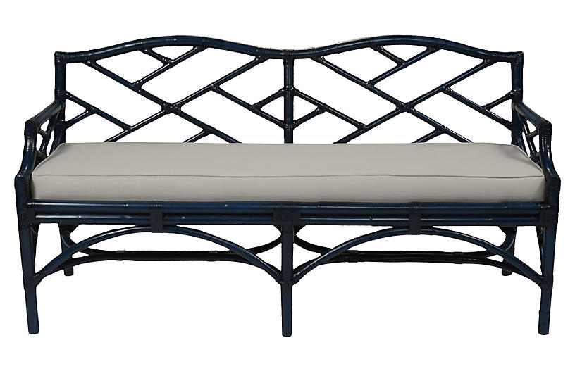 Chippendale Bench, Navy