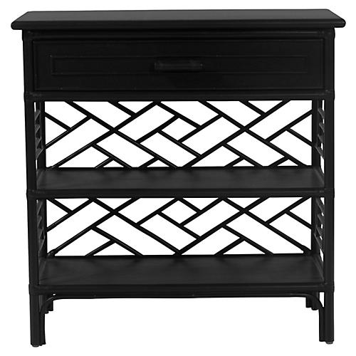 Chippendale Nightstand, Black