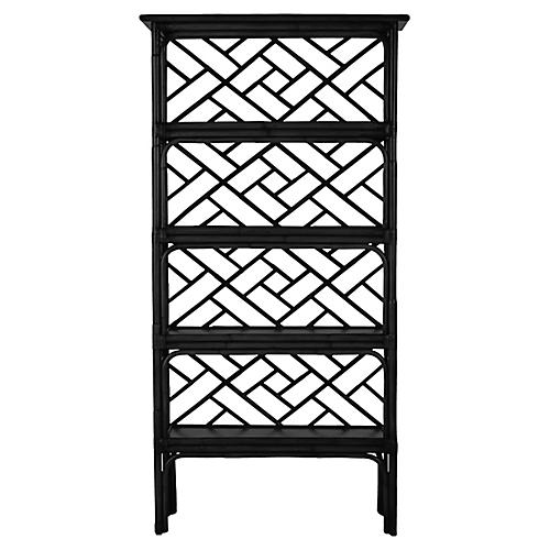 Chippendale Bookcase, Black