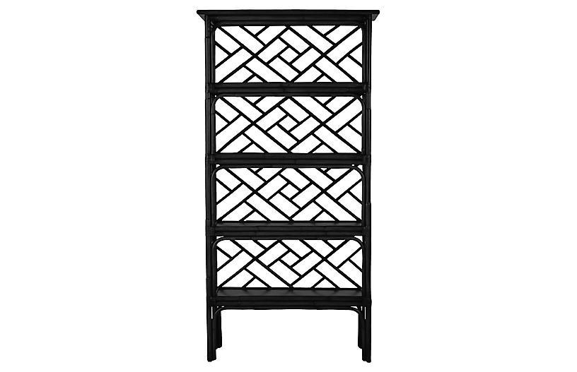 Chippendale Bookcase, Black