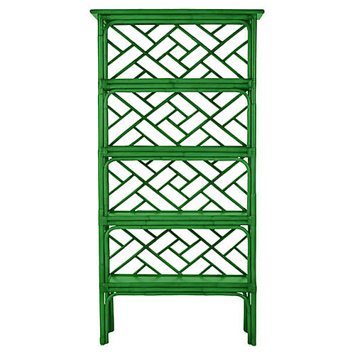 Chippendale Bookcase, Bright Green