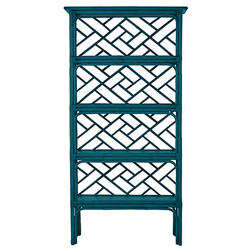 Chippendale Bookcase, Pacific Blue