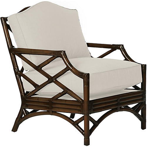 Chippendale Accent Chair, Coffee Brown